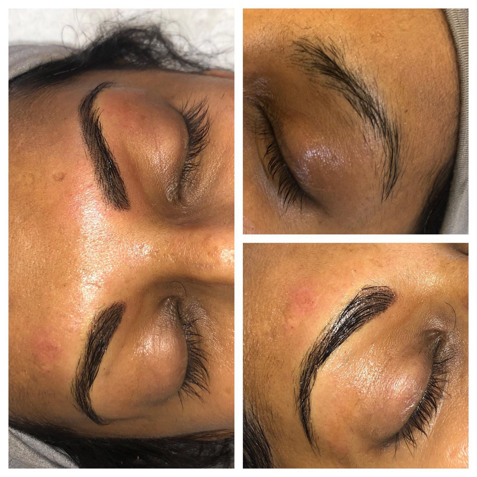 semi permanent makeup technique