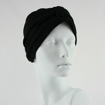 Towelling Turban - Black