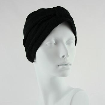 Towelling Turban - Black