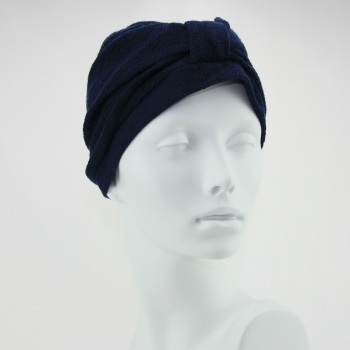 Towelling Turban - Navy