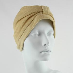 Towelling Turban - Sandstone