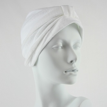 Towelling Turban - White