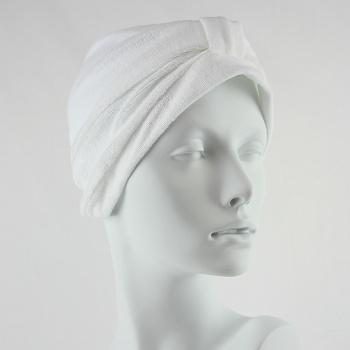 Towelling Turban - White