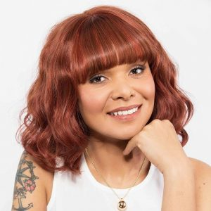 Emerald | Human Hair Wig | Gem Collection | Vibrant Red Brown Blend (33-130) | Wavy Hair Style | Hair to Ware
