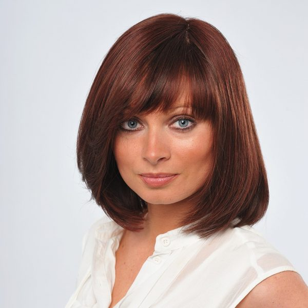 Emerald | Human Hair Wig | Gem Collection | Dark Brown and Burgundy Blend (2-135r) | Straight Hair Style | Hair to Ware