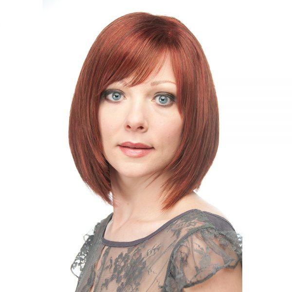 Emerald | Human Hair Wig | Gem Collection | Vibrant Red Brown Blend (33-130) | Straight Hair Style | Hair to Ware