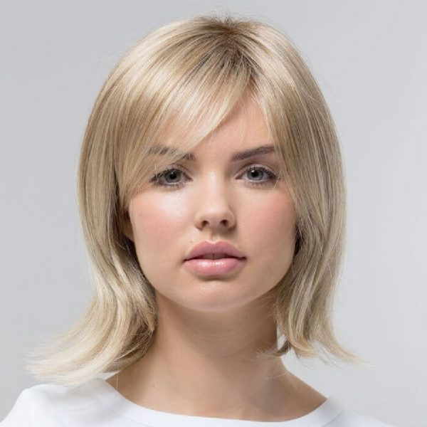 Hazel   Fibre Wig   Sentoo Lotus Collection   Trendco   Oak Melange Rooted   Straight   Front   Hair to Ware