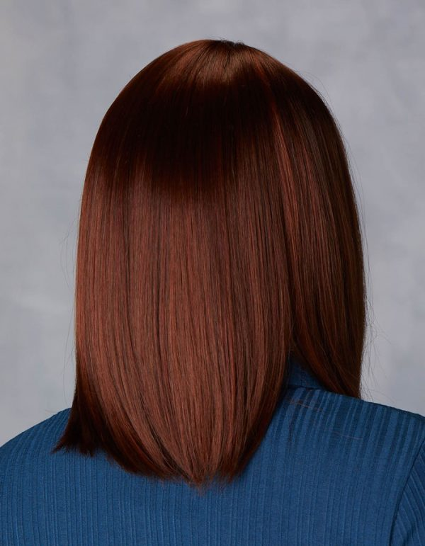 Illustrious | Fibre Wig | Natural Image | Chestnut Glow Rooted | Back | Hair to Ware