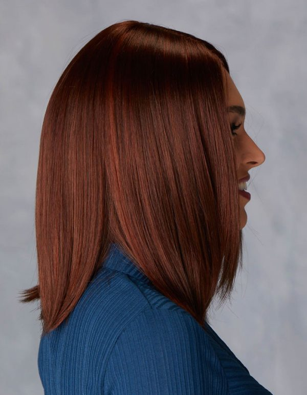 Illustrious | Fibre Wig | Natural Image | Chestnut Glow Rooted | Side | Hair to Ware