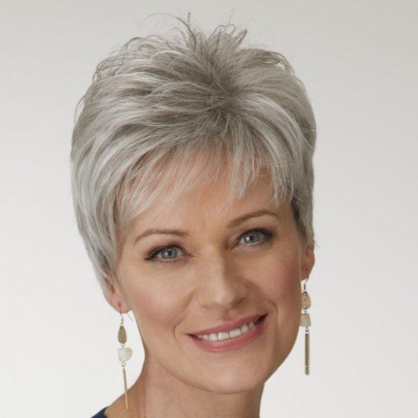 Katyana | Fibre Wig | Natural Image | Daxbourne | Sugared Silver | Front | Hair to Ware