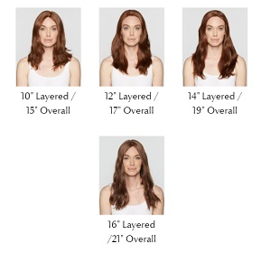 Rene by Follea. Length guide. A human hair wig that is custom made to suit you by Hair to Ware